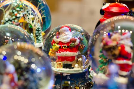 Snow-ball Toy Glass Ball Stock Photo