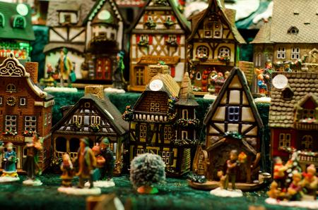 Ceramic incense house miniature
