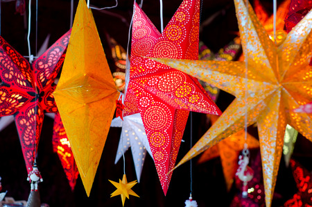Star garland christmas decor