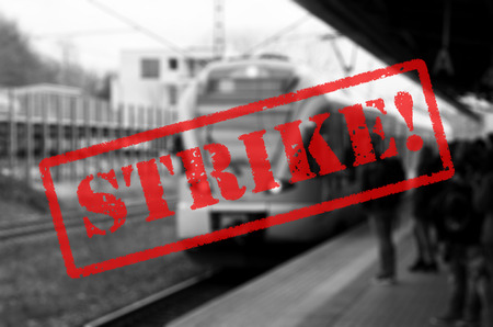 Railroad strike background