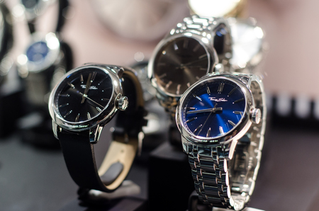 Soest, Germany - January 14, 2019: Thomas Sabo watches in the shop window.