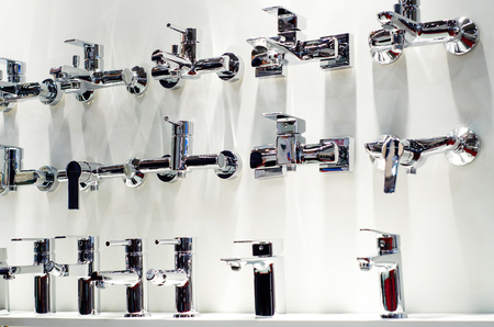 Different bathroom taps for sale.
