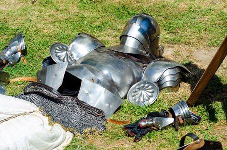 Metal medieval knight armor parts