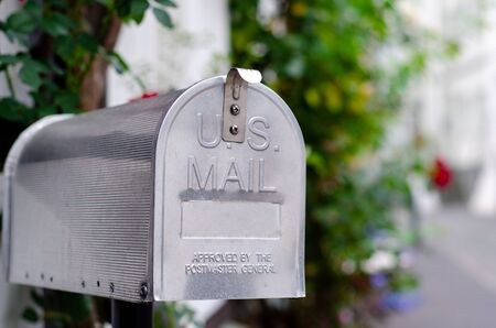 Vintage metal US post mail box