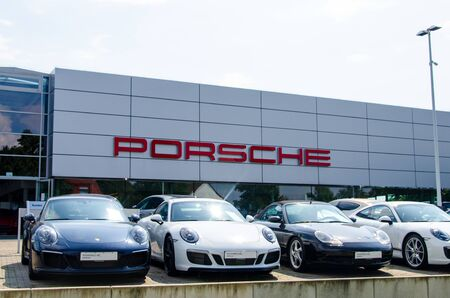Soest, Germany - August 2, 2019: New PORSCHE in the Car showroom.