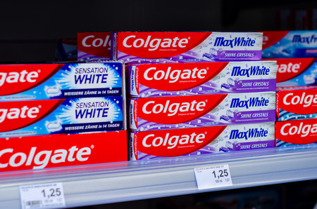 Soest, Germany - July 23, 2019: Colgate Toothpaste for sale.