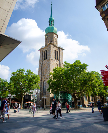 Dortmund, Germany - August 2, 2019:  Church of St. Reinoldi in Dortmund