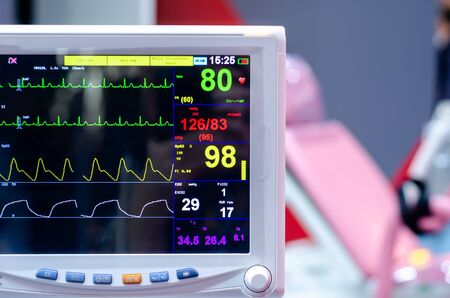 Close-up of Multiparameter Patient Monitor.