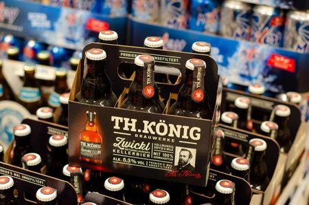Blankenheim, Germany - July 27, 2019: TH.König beer for sale in the store