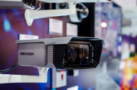 Kyiv, Ukraine - October 09, 2019: Hikvision Thermal Camera in the shop. Editorial