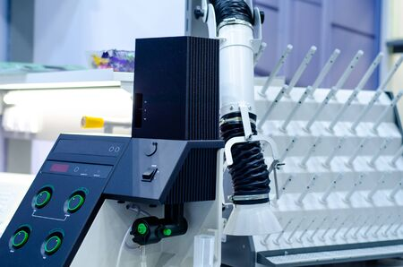 Photoelectric flame photometer in the laboratory