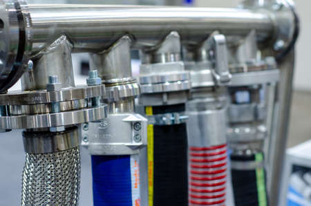 Close up of different water hose
