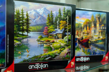 Kyiv, Ukraine - March 10, 2021: Anatolian Puzzle for sale in the store