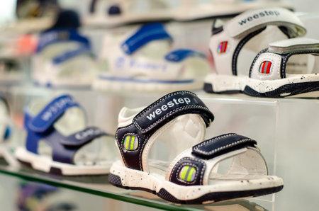 Kyiv, Ukraine - March 10, 2021: Weestep children's shoes Redactioneel