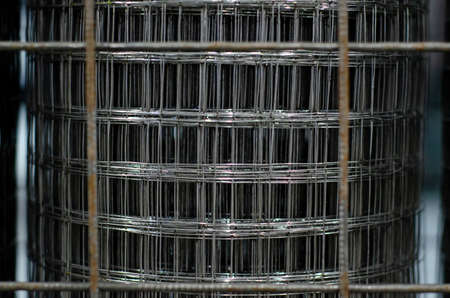 Close-up of Steel Reinforcement Mesh