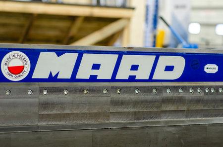 Kyiv, Ukraine - March 17, 2021: MAAD benders, sheet metal folding machines Redactioneel