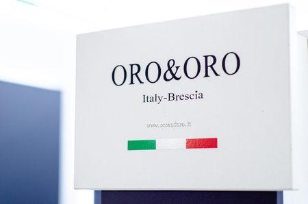 Kyiv, Ukraine - March 17, 2021: ORO and ORO exhibition stand