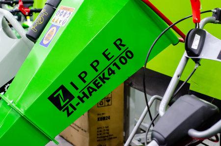 Kyiv, Ukraine - March 17, 2021: ZIPPER construction machinery. ZIPPER Maschinen GmbH Redactioneel