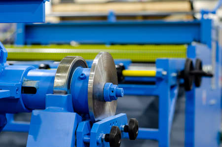 Hydraulic bending machine on the factory Imagens