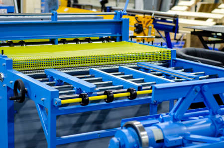 Hydraulic bending machine on the factory Stockfoto