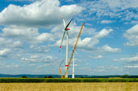 Crane for wind turbine assembly