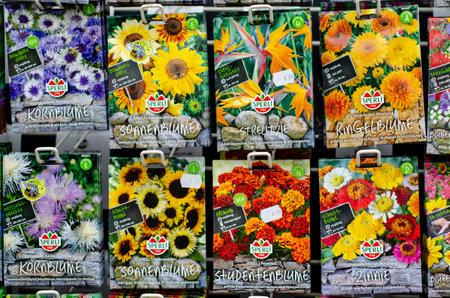 Soest, Germany - August 18, 2021: Sperli flower seeds for sale Sajtókép