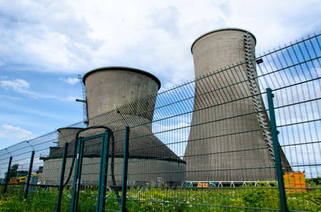 Old cooling towers of the disused coal-fired power station