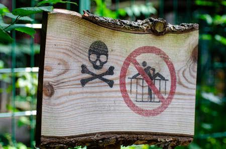 Zoo danger sign