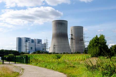 RWE Power, Westfalen power plant, former nuclear power plant THTR Hamm, coal power plant Baustelle, Hamm, Ruhrgebiet, North Rhine-Westpha