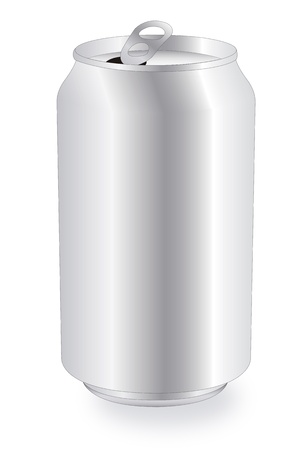 water can: Drink can over white background