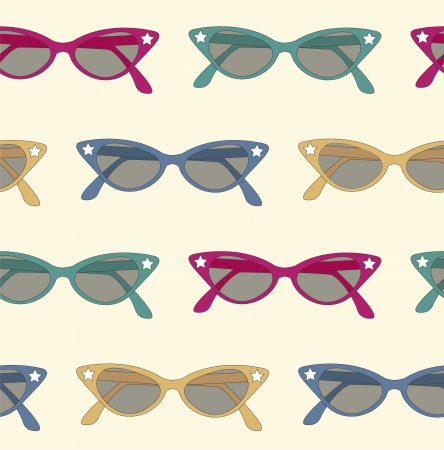 pattern background of 50s sunglasses Vector