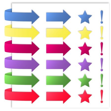 leíró szín: Állítsa be a színes nyilak, jelek és szimbólumok