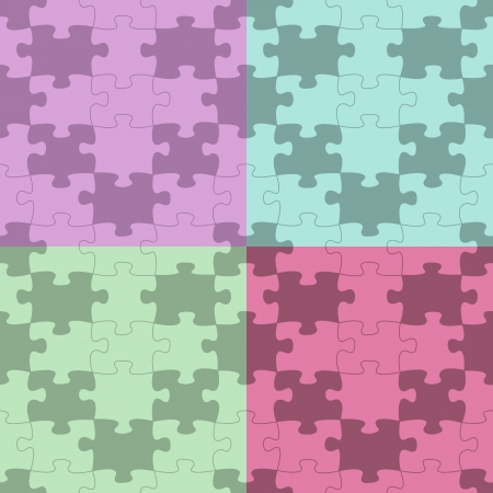 repeatable: Seamless Puzzle Pattern