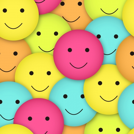 blue smiling: seamless vector smileys in different colors
