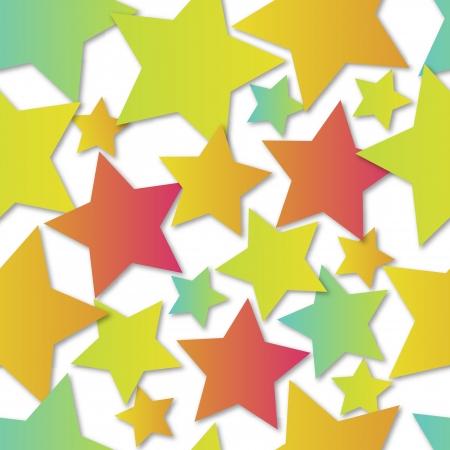 EPS10 file. Seamless vector stars over white