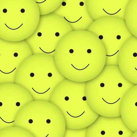 seamless vector smileys background Vector
