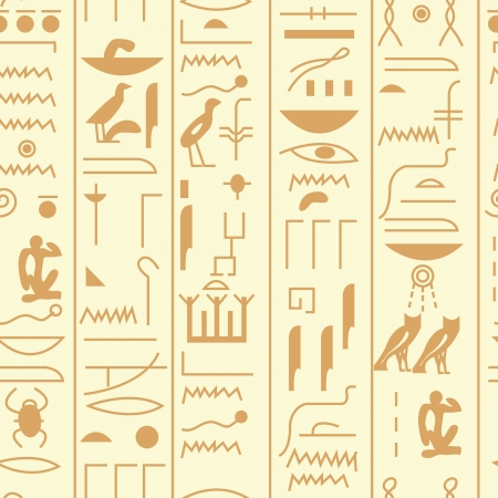 EPS10 file. Seamless vector hieroglyph over black background Vector