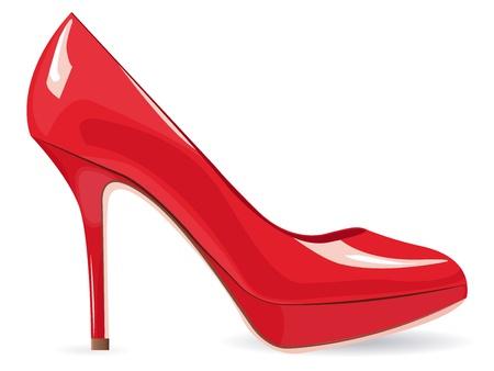spikes: EPS10 archivo. Red de tac�n alto zapato sobre blanco con espacio para su propio texto