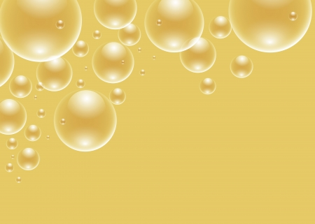 foam bubbles: background with golden bubbles and blank space to write your own text