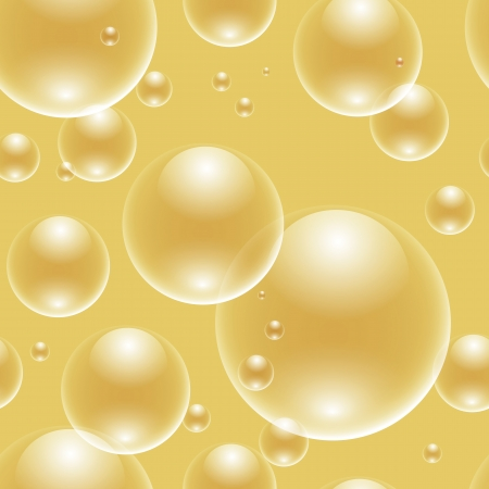 seamless bubbles over golden background Vector