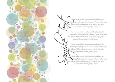 EPS10 vector file  Colorful transparent dots seamless background pattern with blank space to write your own text