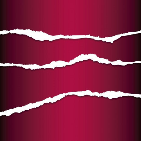 Red tear paper Vector