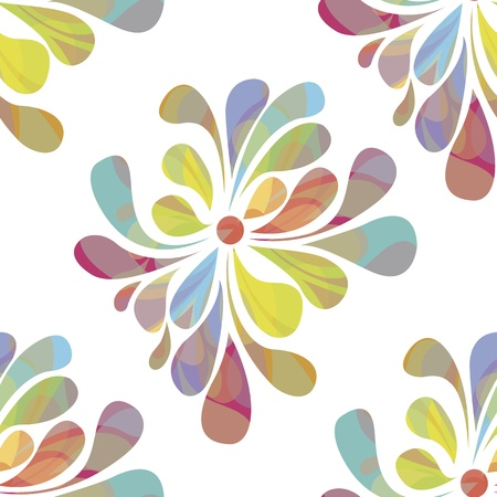 EPS 10 vector file. Colorful floral seamless over white background