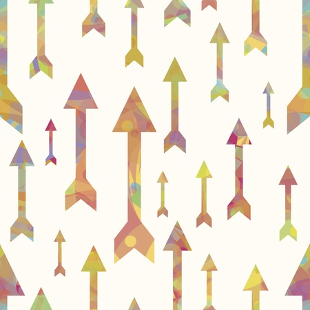 EPS 10 vector file. Colorful arrows seamless pattern over white background Vector