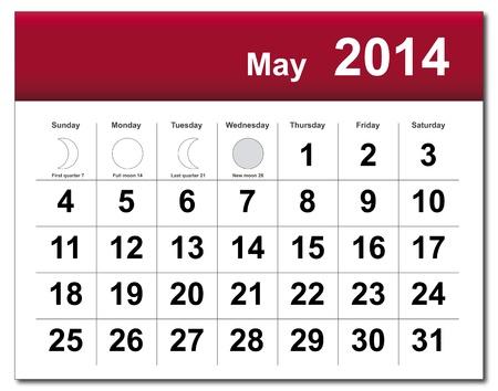 May 2014 calendar.