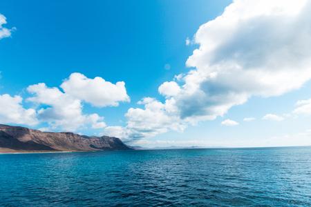 lanzarote: Coast at Lanzarote La Graciosa, Lanzarote, Canary Islands, Spain. Stock Photo