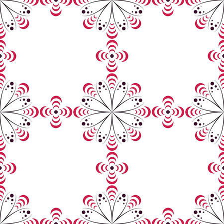 EPS10 file. Seamless vector floral geometric pattern. Vintage background. Illustration
