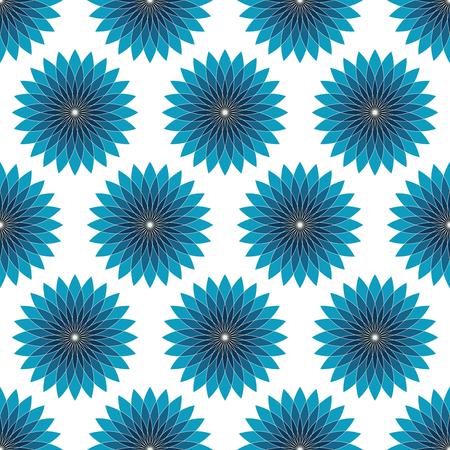 Seamless floral geometric pattern. Vintage background.