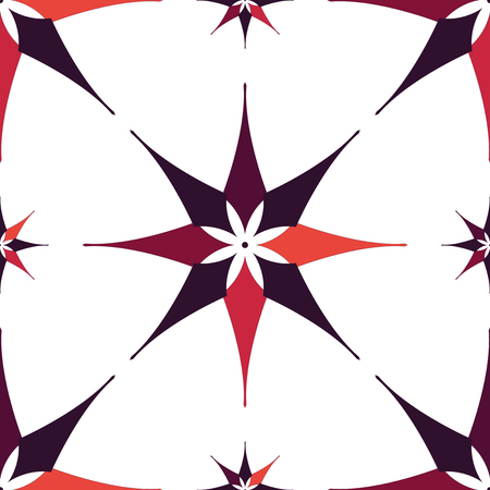 scraps: EPS10 file. Seamless floral geometric pattern. Illustration
