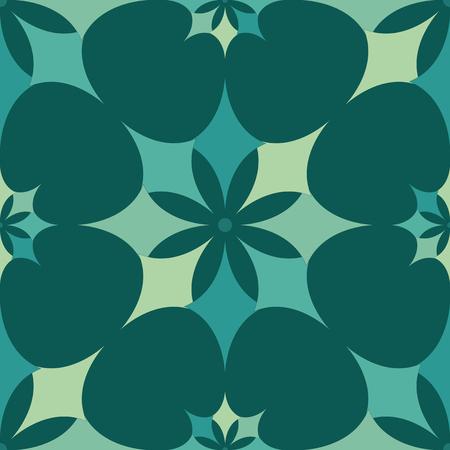 EPS10 file. Seamless floral geometric pattern. Vintage background. Illustration